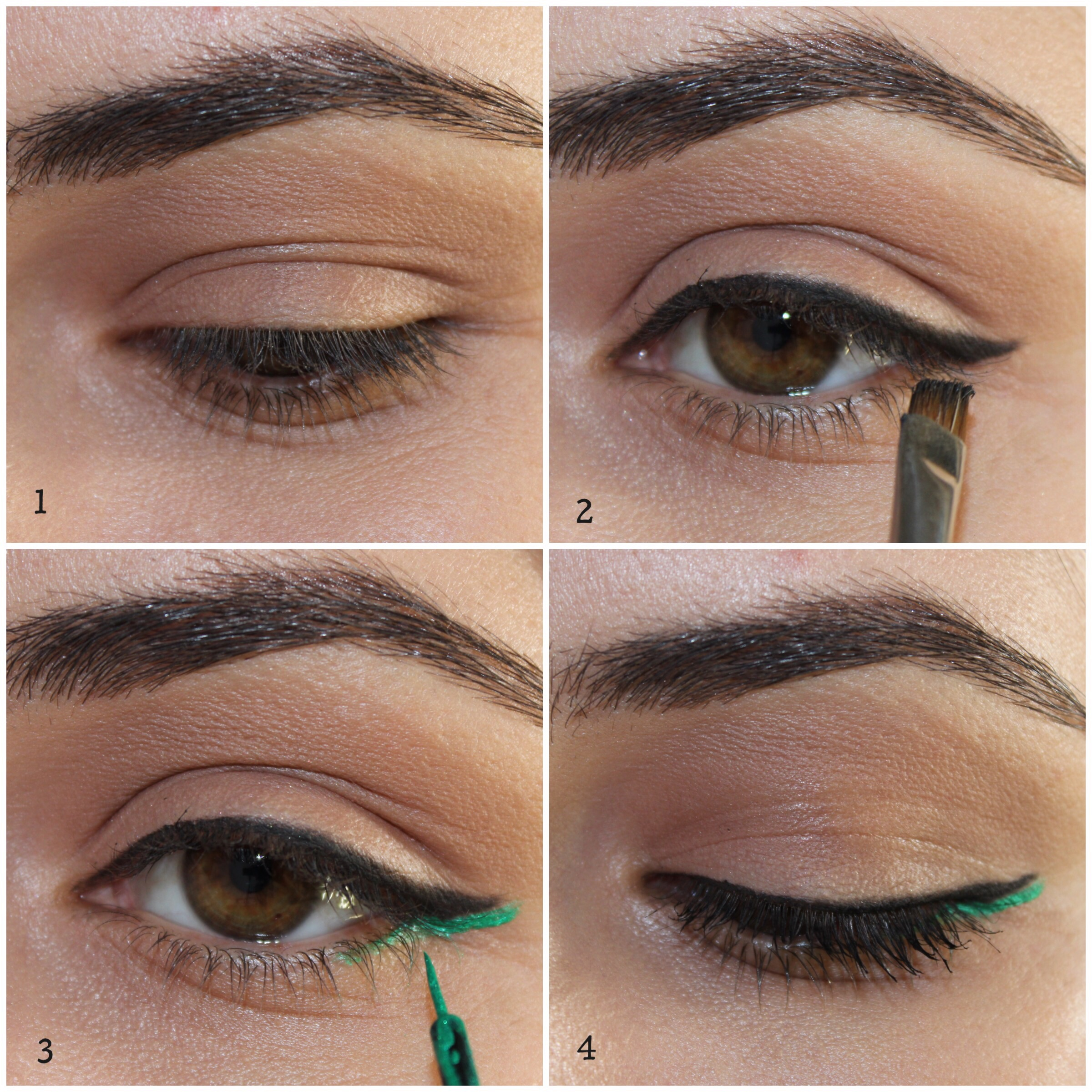Makeup Thursday Delineado Preto E Verde