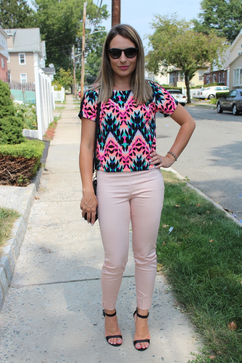 Look do Dia: Blusa Estampada e Calça Tom Pastel