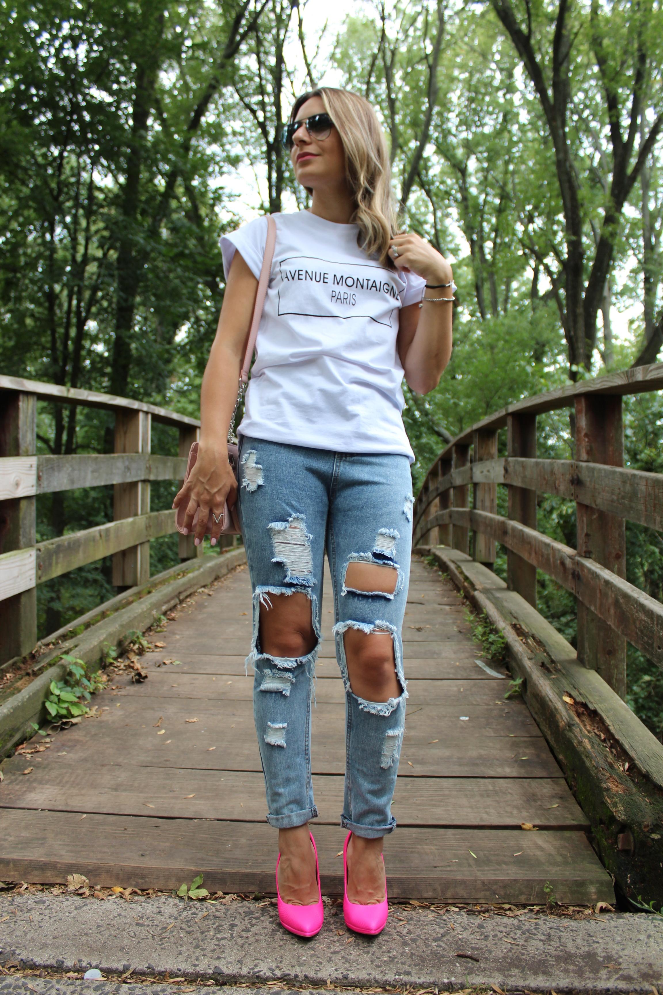 Looks com scarpin com jeans