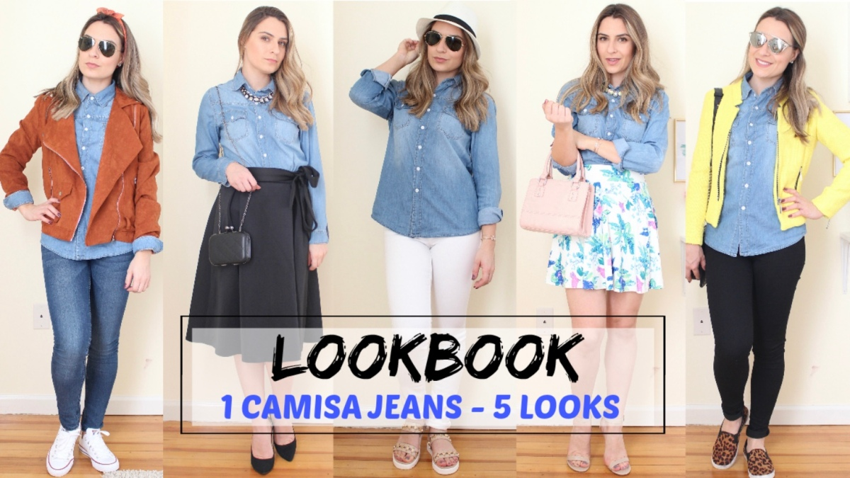 Video: Lookbook- 1 Peça 5 Looks/ Camisa Jeans